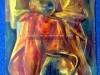 Vázák drapéria beállítás után - karton, olajfestmény, 50cmx80cm