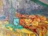 Paprika csendélet - olajfestmény, vászon, 100cmx50cm