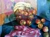 Gyümölcskosár konyhámban - olajfestmény, vászon, 55cmx60cm