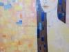Jégkék - olajfestmény, vászon, 50cmx100cm