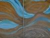 Vonulatok - 4 részes olajfestmény