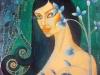 Nő szirom - olajfestmény, vászon, 60cmx70cm